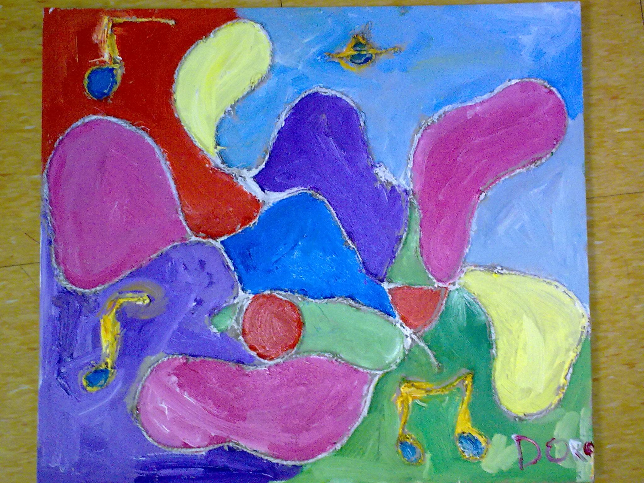 儿童抽象画
