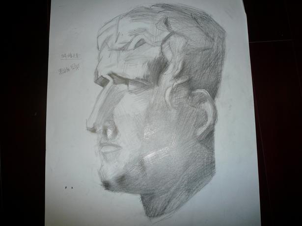 如何画人头像素描头像